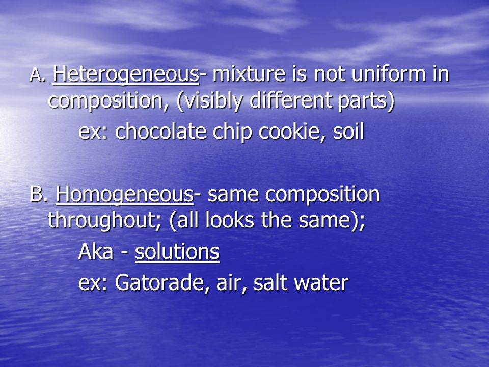 Separating Mixtures Distillation – separates components of solution w/ different boiling points Distillation – separates components of solution w/ different boiling points Filtration – separates solid from a liquid using porous barrier Filtration – separates solid from a liquid using porous barrier Crystallization – forms pure solid particles from a saturated solution of dissolved particles Crystallization – forms pure solid particles from a saturated solution of dissolved particles Chromatography – separates components (mobile phase) across a piece of paper (stationary phase) Chromatography – separates components (mobile phase) across a piece of paper (stationary phase)