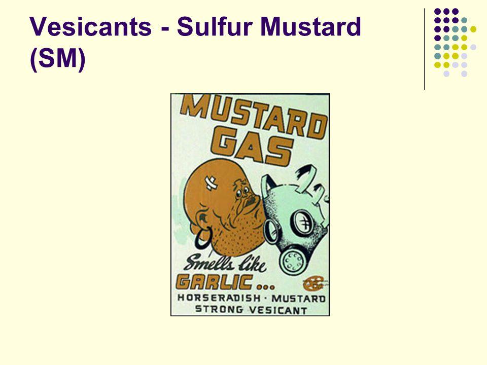 Vesicants - Sulfur Mustard (SM)