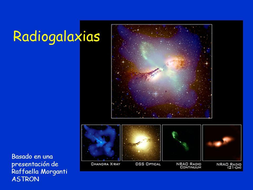 Basado en una presentación de Raffaella Morganti ASTRON Radiogalaxias