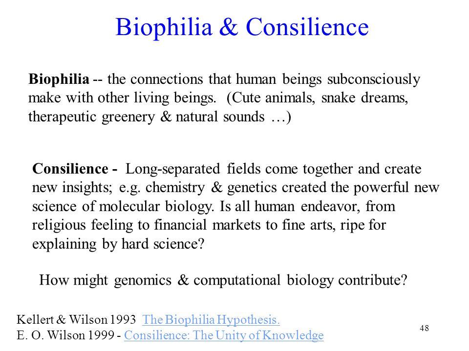 48 Biophilia & Consilience Kellert & Wilson 1993 The Biophilia Hypothesis.The Biophilia Hypothesis.