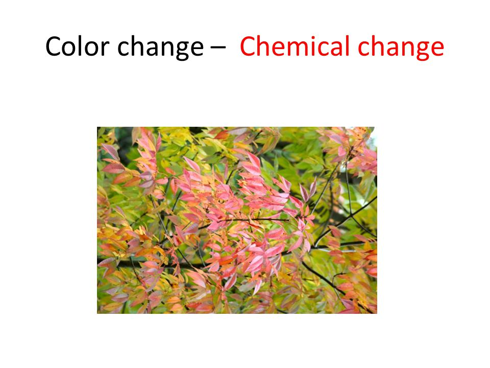 Color change – Chemical change