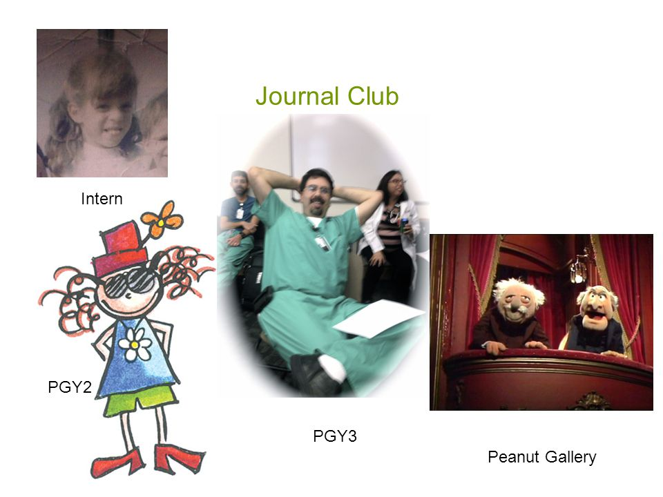 Journal Club Intern PGY2 Peanut Gallery PGY3