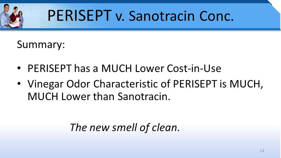 PERISEPT v. Sanotracin Conc.
