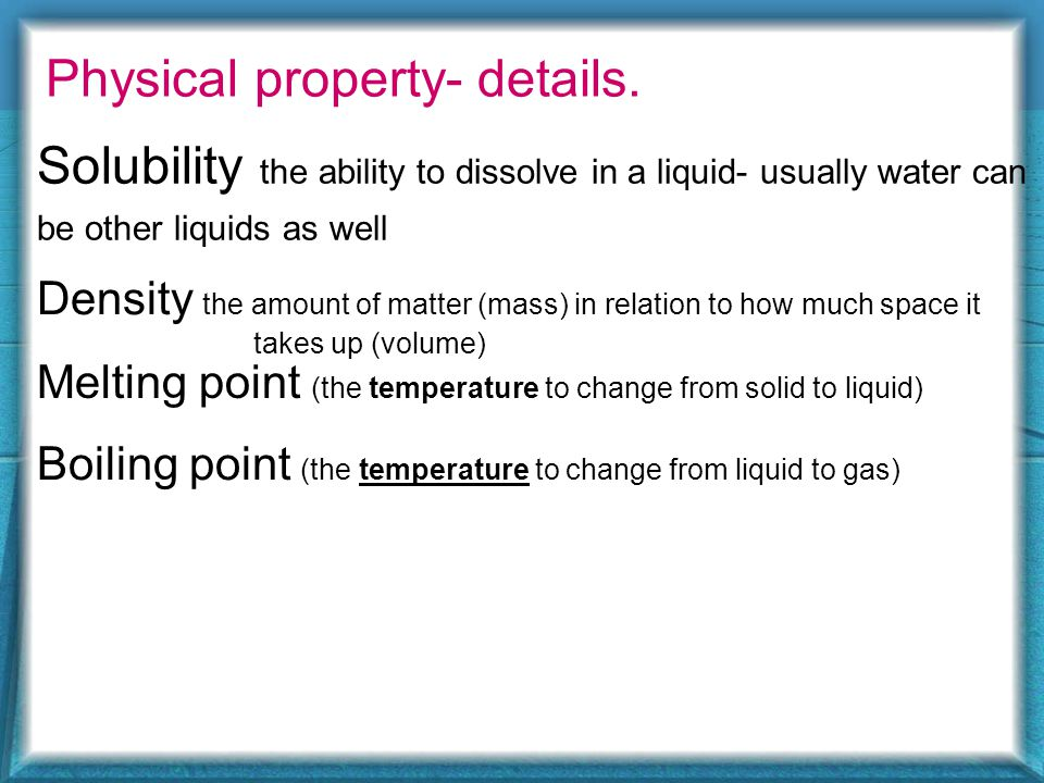 Lets look into Physical Properties Simple ones Color-gold Is it conductive.
