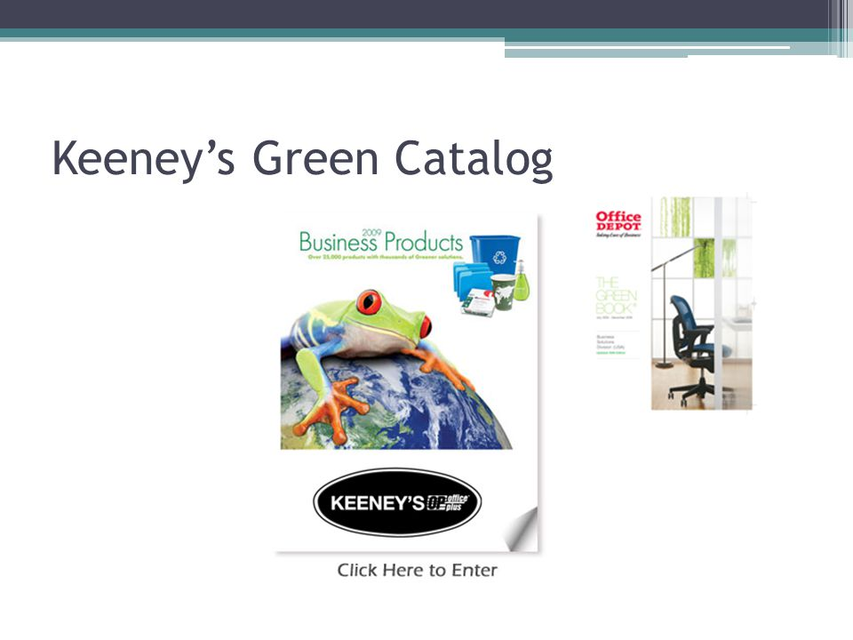 Keeney's Green Catalog
