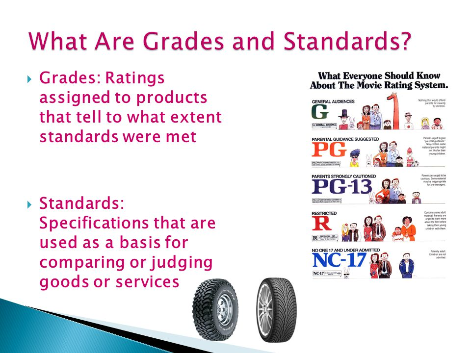  Why learn about Standards and Grades. How do Standards and Grades affect YOU.