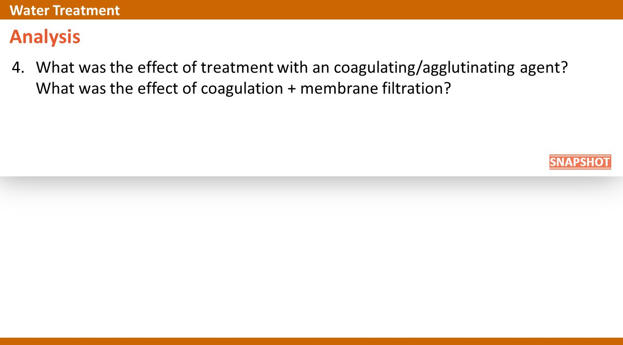 Analysis 4.What was the effect of treatment with an coagulating/agglutinating agent.