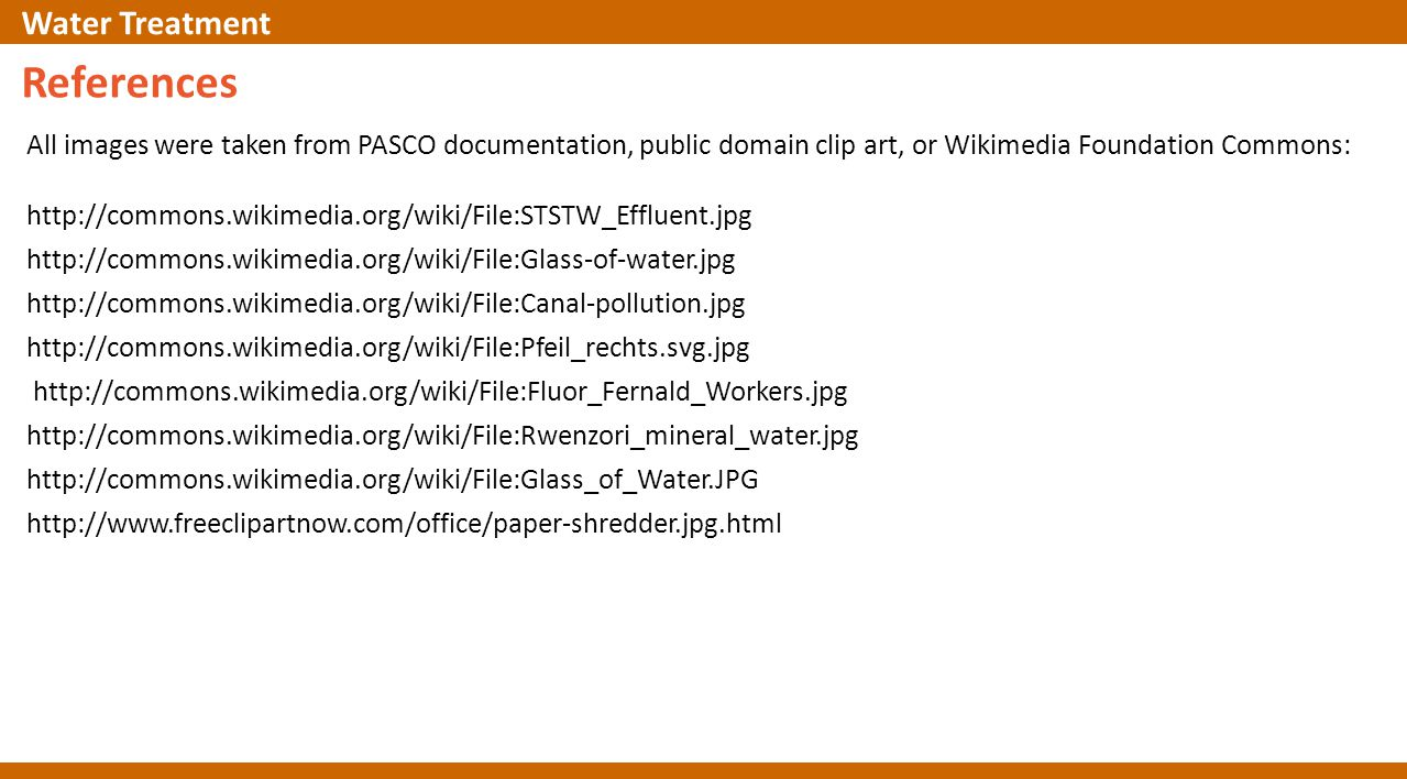 All images were taken from PASCO documentation, public domain clip art, or Wikimedia Foundation Commons: http://commons.wikimedia.org/wiki/File:STSTW_