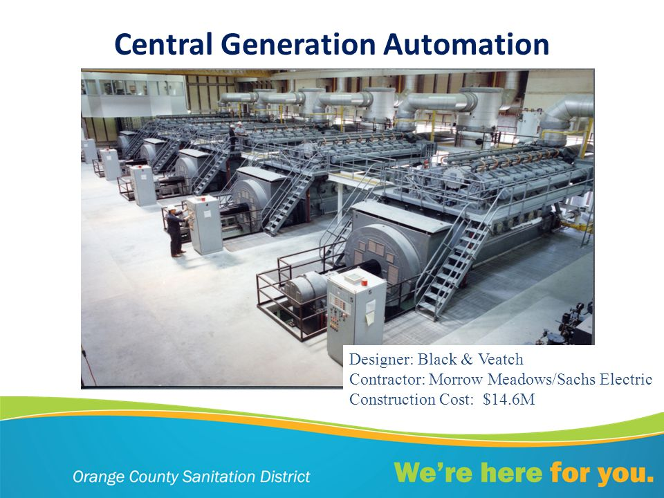 Central Generation Automation Designer: Black & Veatch Contractor: Morrow Meadows/Sachs Electric Construction Cost: $14.6M