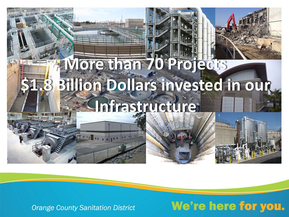 More than 70 ProjectsMore than 70 Projects $1.8 Billion Dollars invested in our Infrastructure
