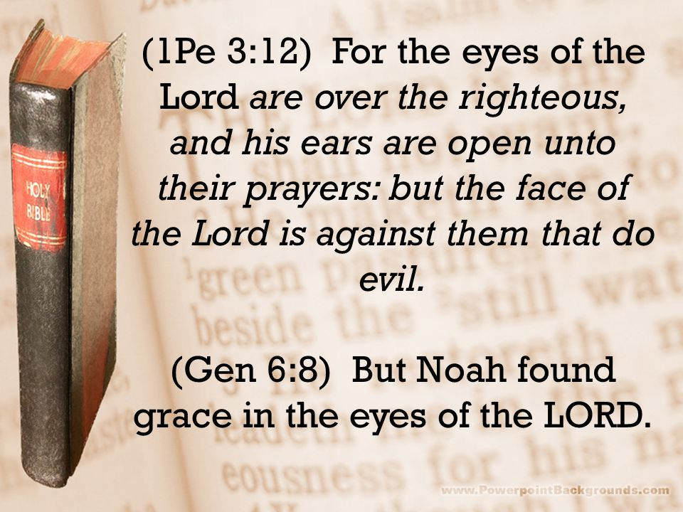 (1Pe 3:12) For the eyes of the Lord are over the righteous, and his ears are open unto their prayers: but the face of the Lord is against them that do evil.