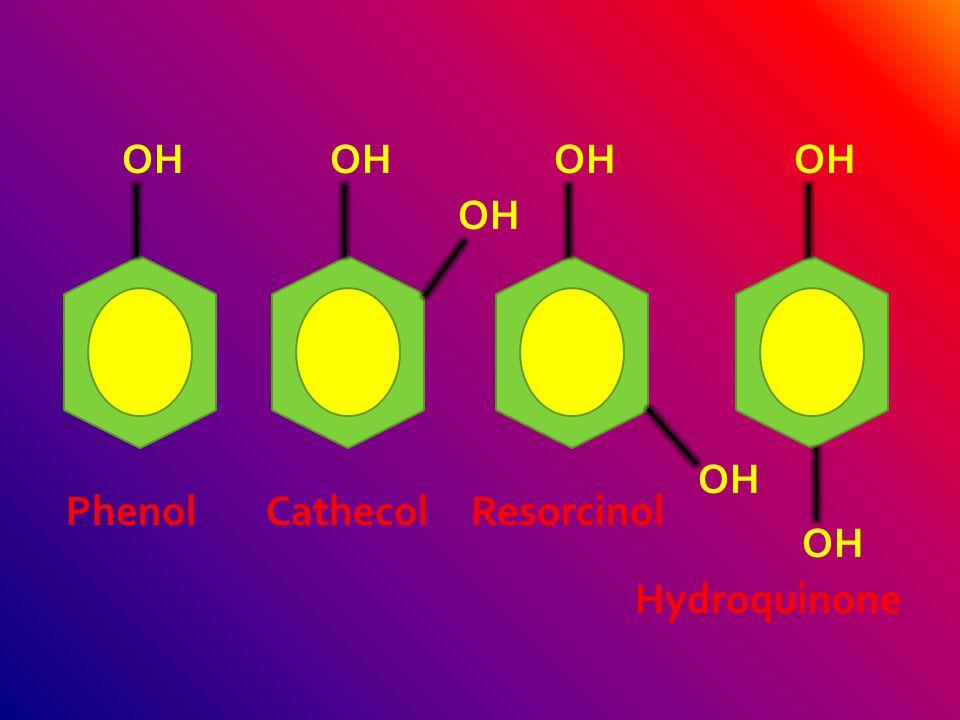 OH CH3 3HCOH CH3CH2 2ON NO2 HO C6H5C6H5 C6H5C6H5 C6H5C6H5 OHBr Cl 2,3,4 - triphenylphenol 2 – ethyl – 4,5 - dinitrophenol 3 – bromo – 5 – chlorophenol 3,4,5 - trimethylphenol
