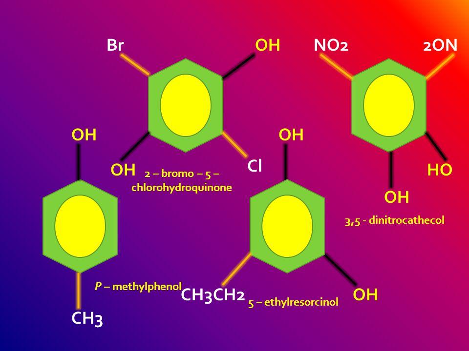 OH PhenolCathecolResorcinol Hydroquinone