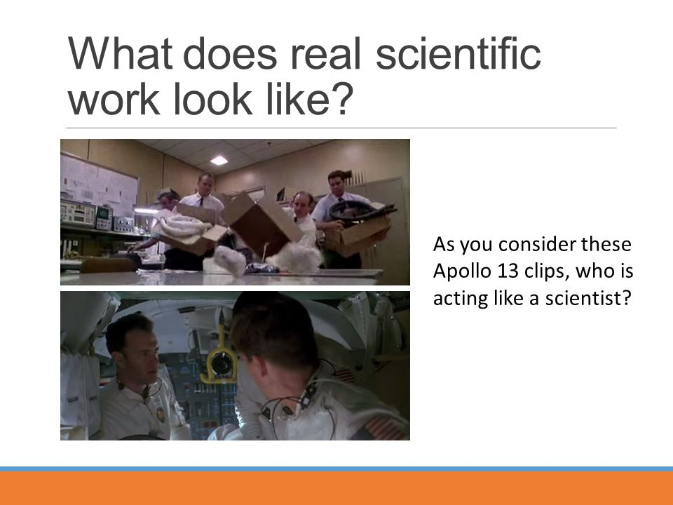 What does real scientific work look like.