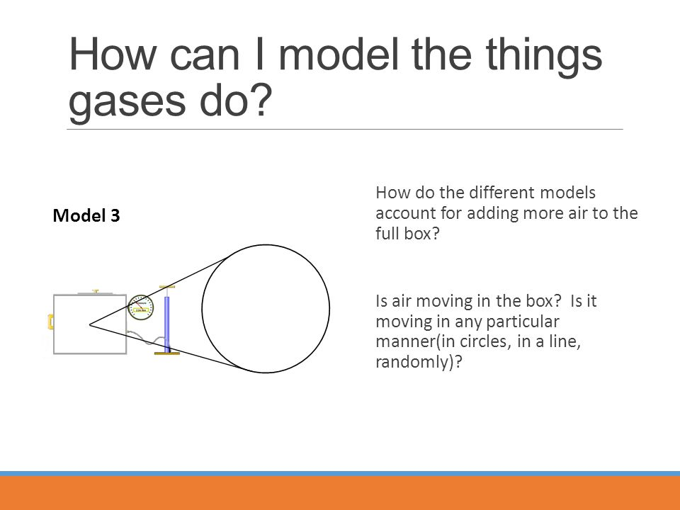 How can I model the things gases do.