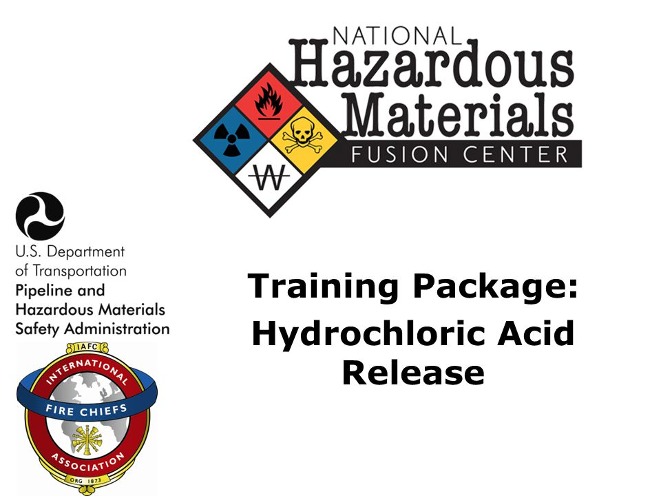 Training Package: Hydrochloric Acid Release