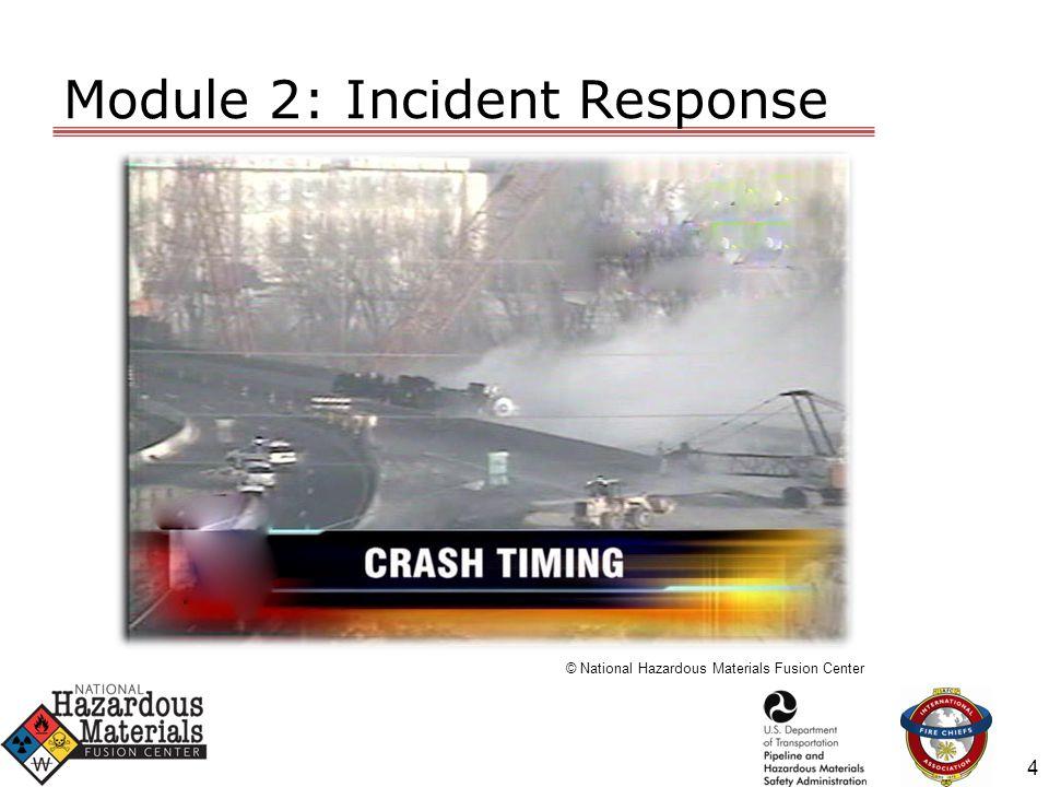 Module 2: Incident Response © National Hazardous Materials Fusion Center 5