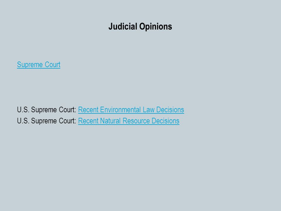 Judicial Opinions Supreme Court U.S.