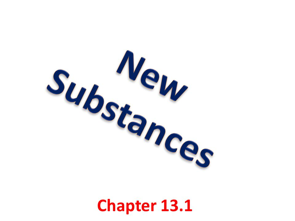 Key concepts: Describe how chemical reactions produce new substances that have different chemical and physical properties Identify four signs that indicate that a chemical reaction might be occurring Explain what happens to chemical bonds during a chemical reaction.