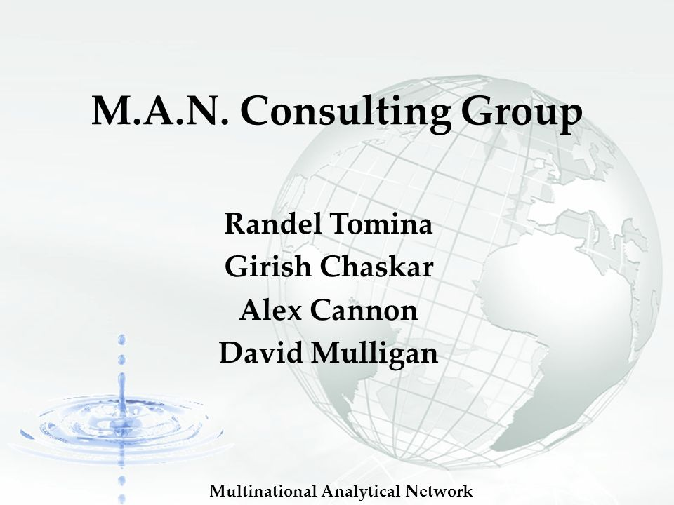 Multinational Analytical Network M.A.N.