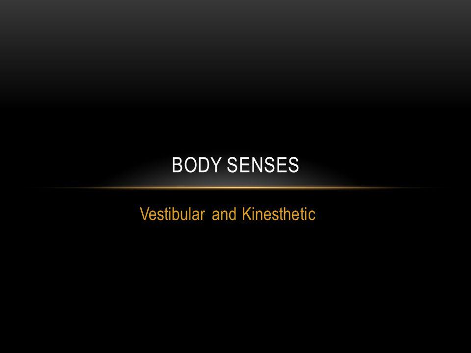 Vestibular and Kinesthetic BODY SENSES