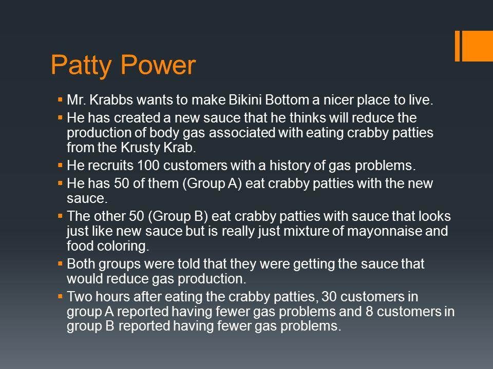 Patty Power  Mr. Krabbs wants to make Bikini Bottom a nicer place to live.
