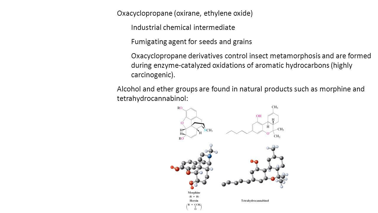Oxacyclopropane (oxirane, ethylene oxide) Industrial chemical intermediate Fumigating agent for seeds and grains Oxacyclopropane derivatives control i