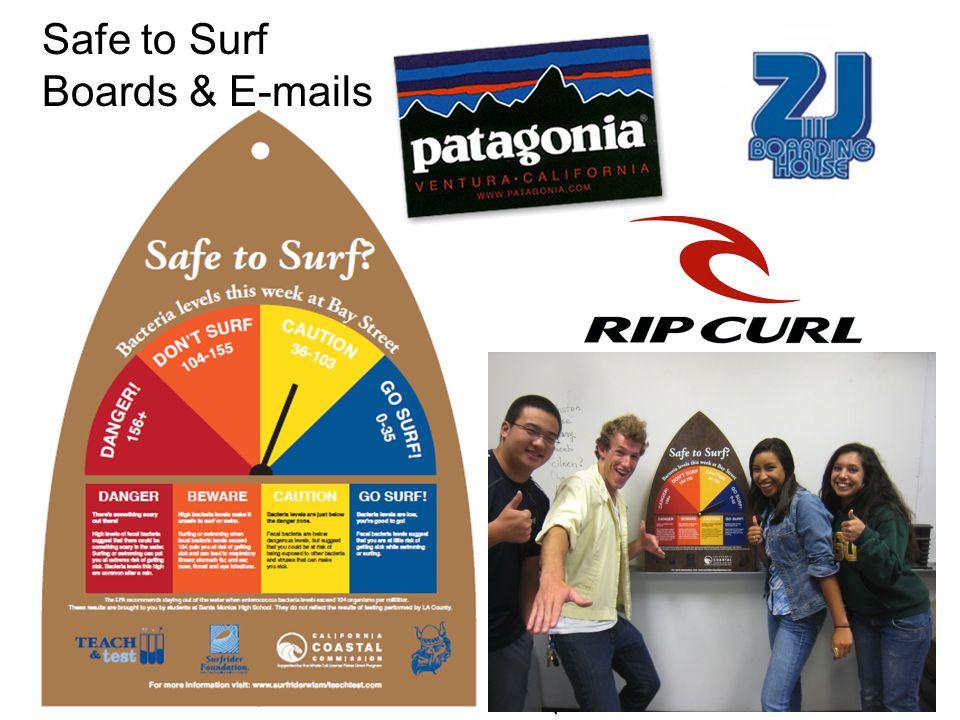 Safe to Surf Boards & E-mails
