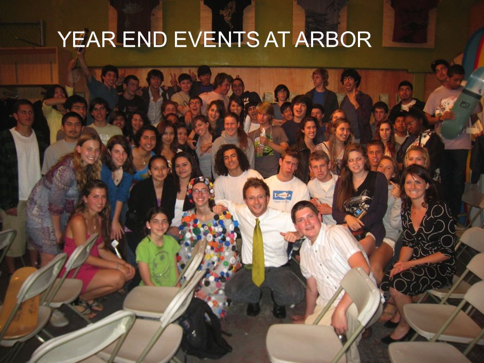YEAR END EVENTS AT ARBOR