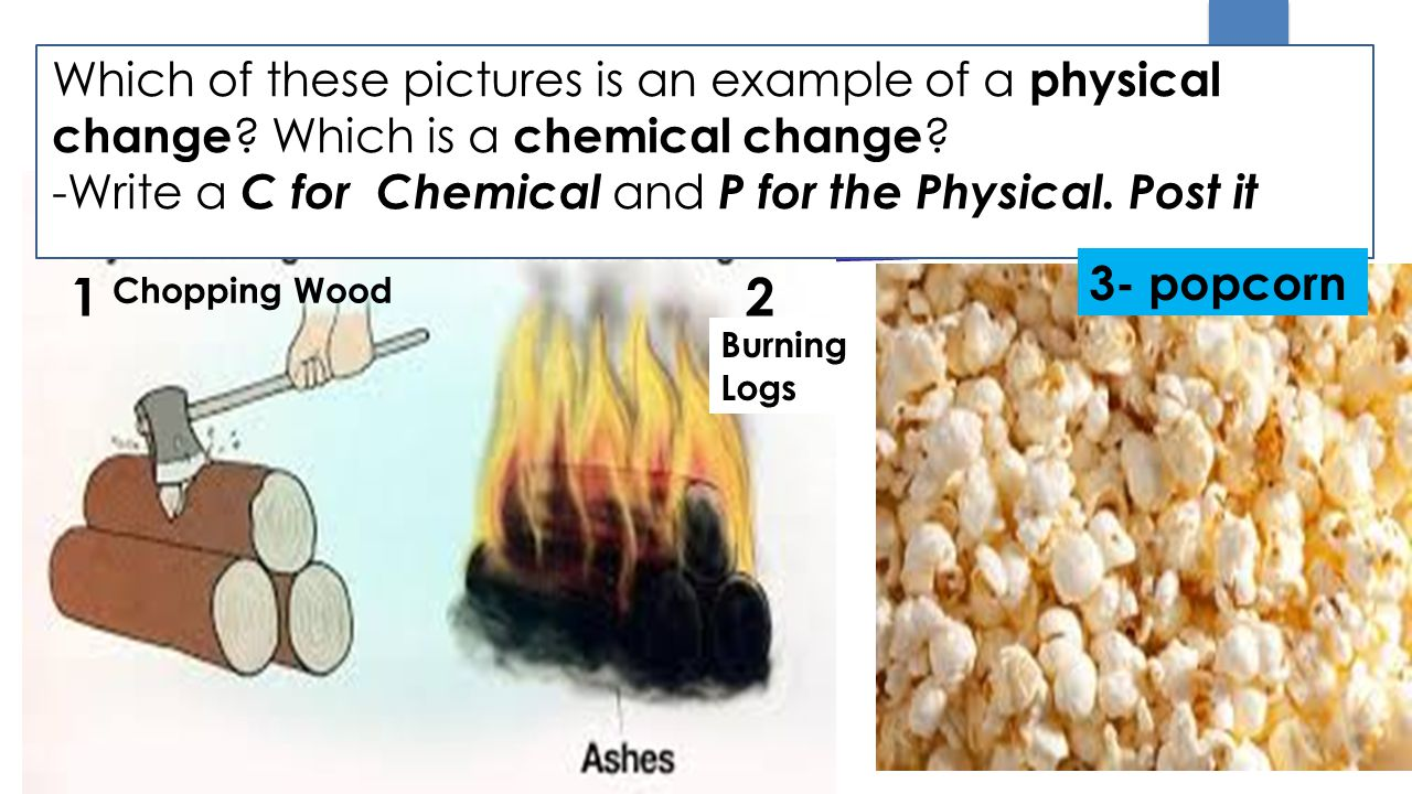Which of these pictures is an example of a physical change .
