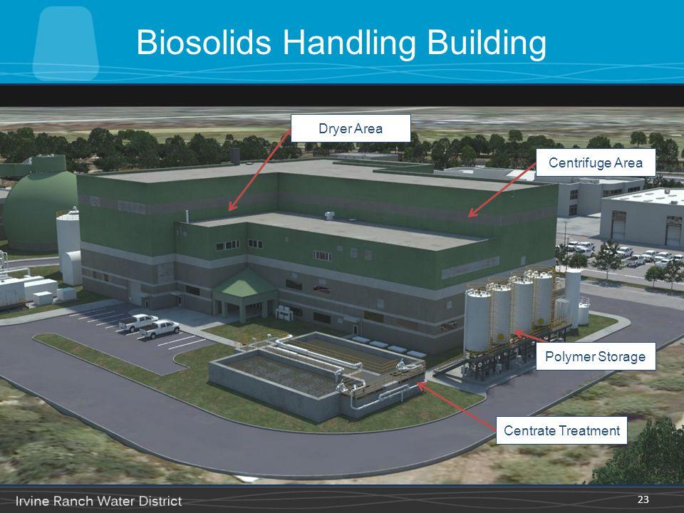23 Centrate Treatment Polymer Storage Centrifuge Area Dryer Area Biosolids Handling Building