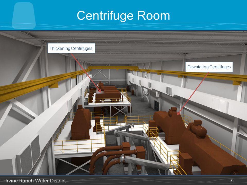 Centrifuge Room 25 Thickening Centrifuges Dewatering Centrifuges