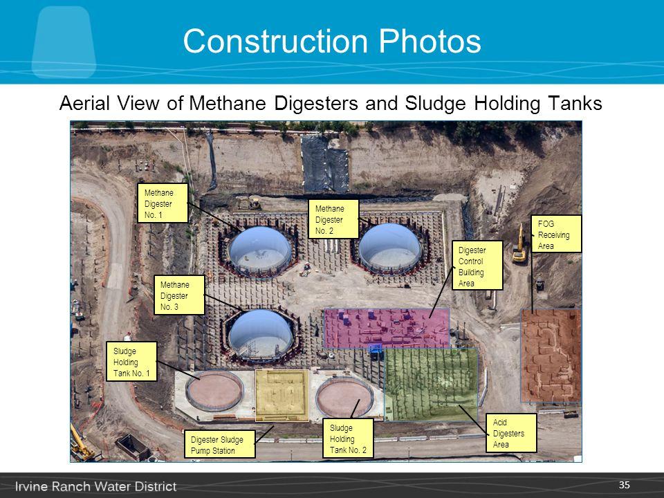 35 Aerial View of Methane Digesters and Sludge Holding Tanks Methane Digester No. 1 Methane Digester No. 2 Methane Digester No. 3 Sludge Holding Tank
