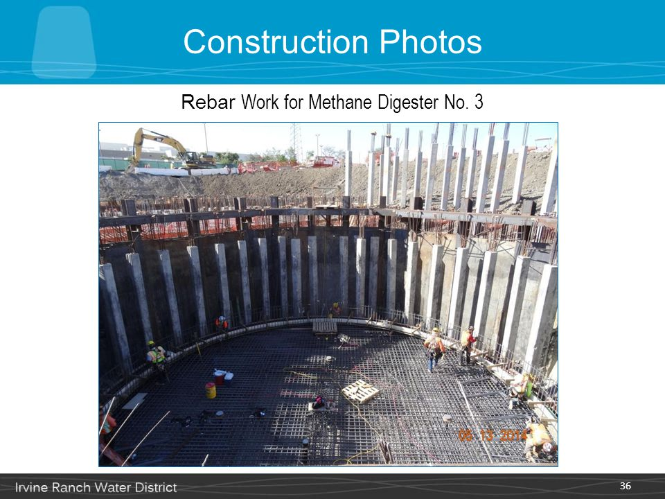 36 Rebar Work for Methane Digester No. 3