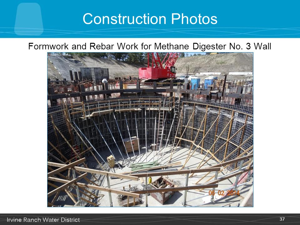 Construction Photos 37 Formwork and Rebar Work for Methane Digester No. 3 Wall