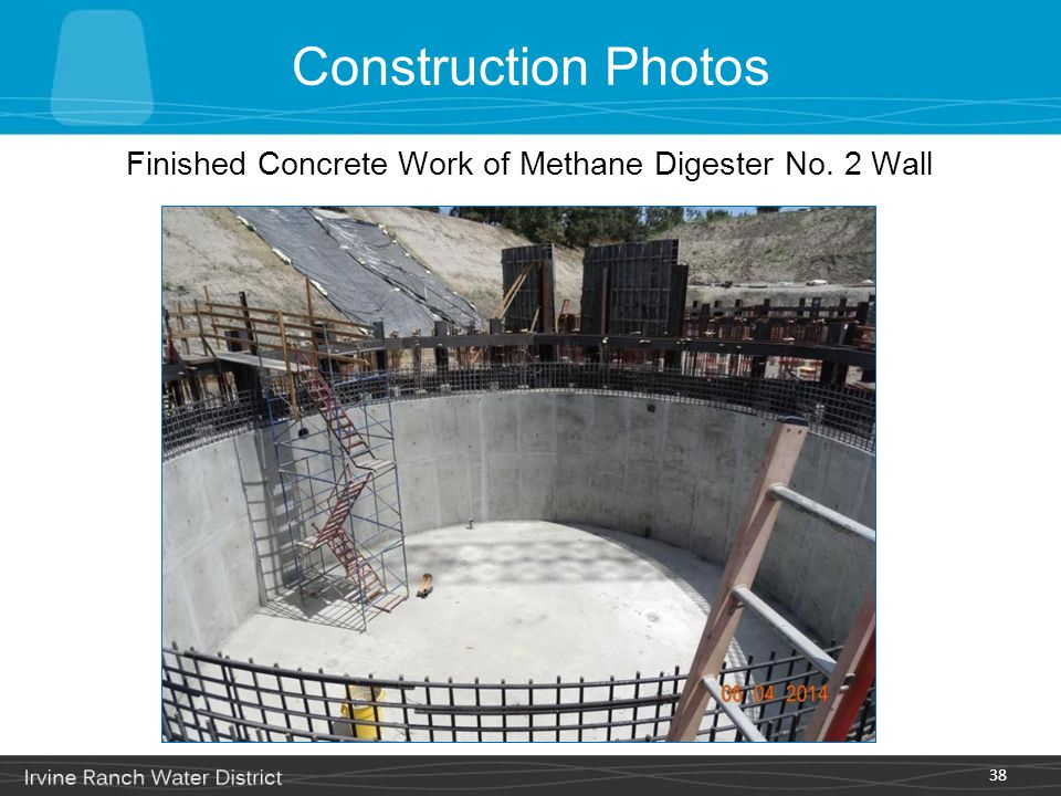 Construction Photos 38 Finished Concrete Work of Methane Digester No. 2 Wall