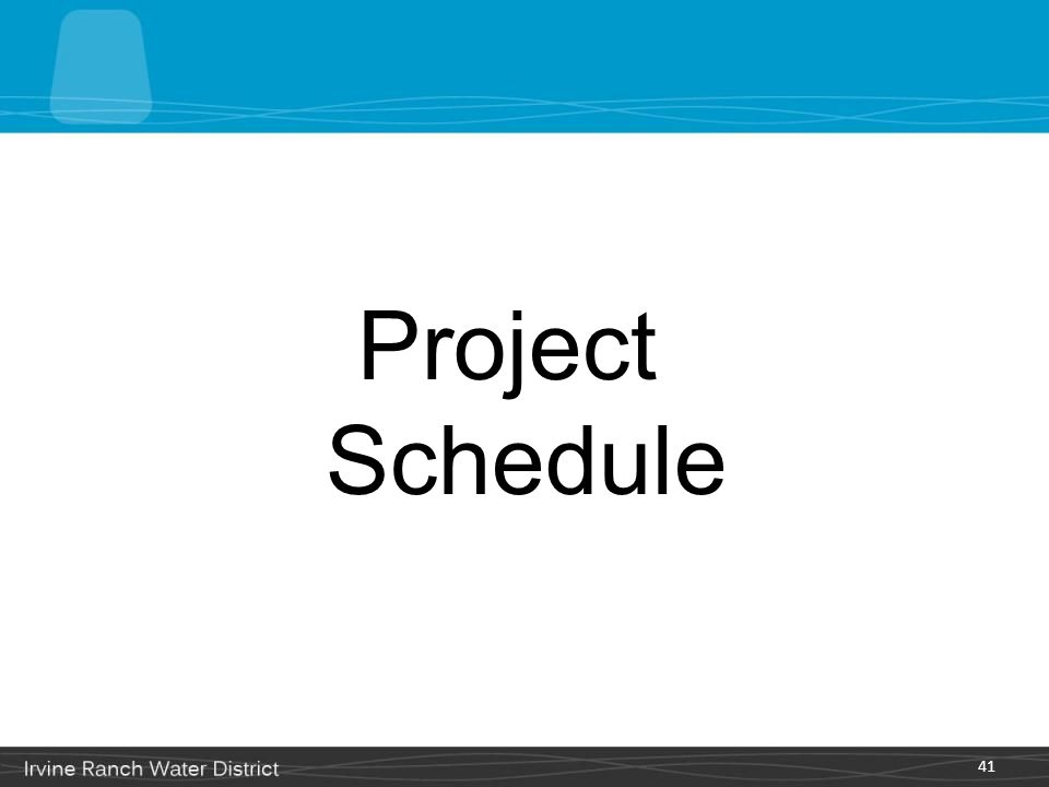 Project Schedule 41