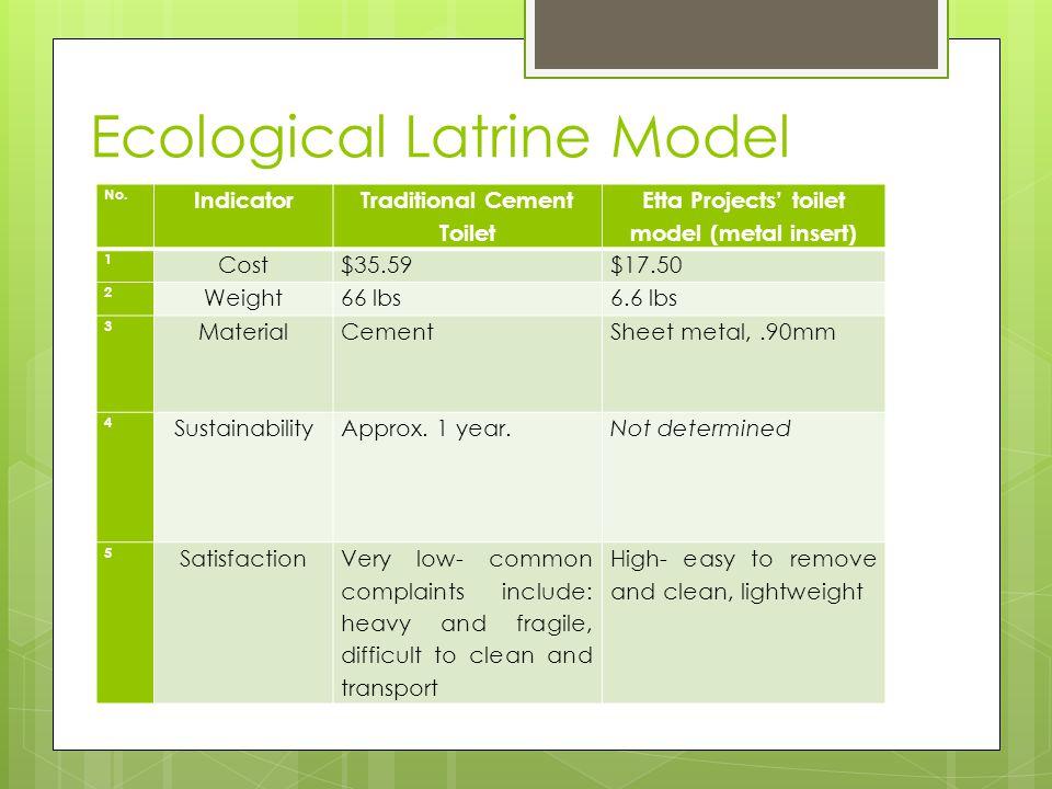 Ecological Latrine Model No.