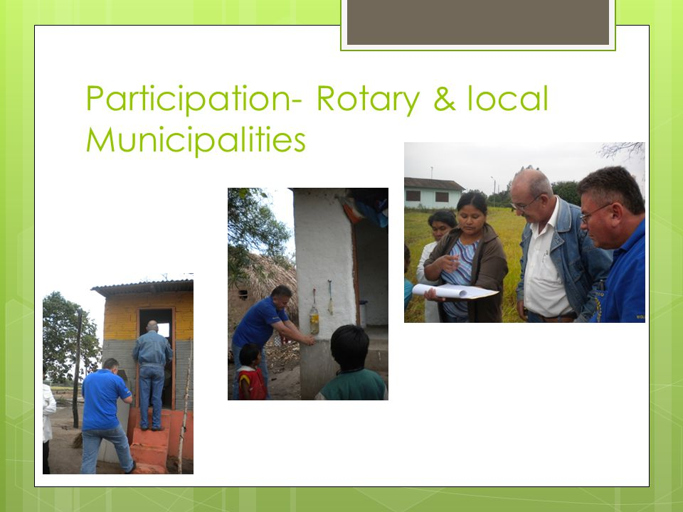 Participation- Rotary & local Municipalities