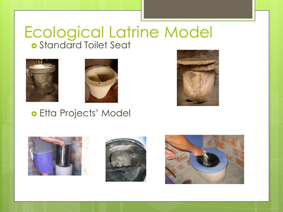 Ecological Latrine Model  Standard Toilet Seat  Etta Projects' Model