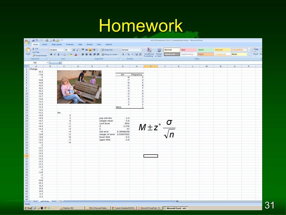 31 Homework