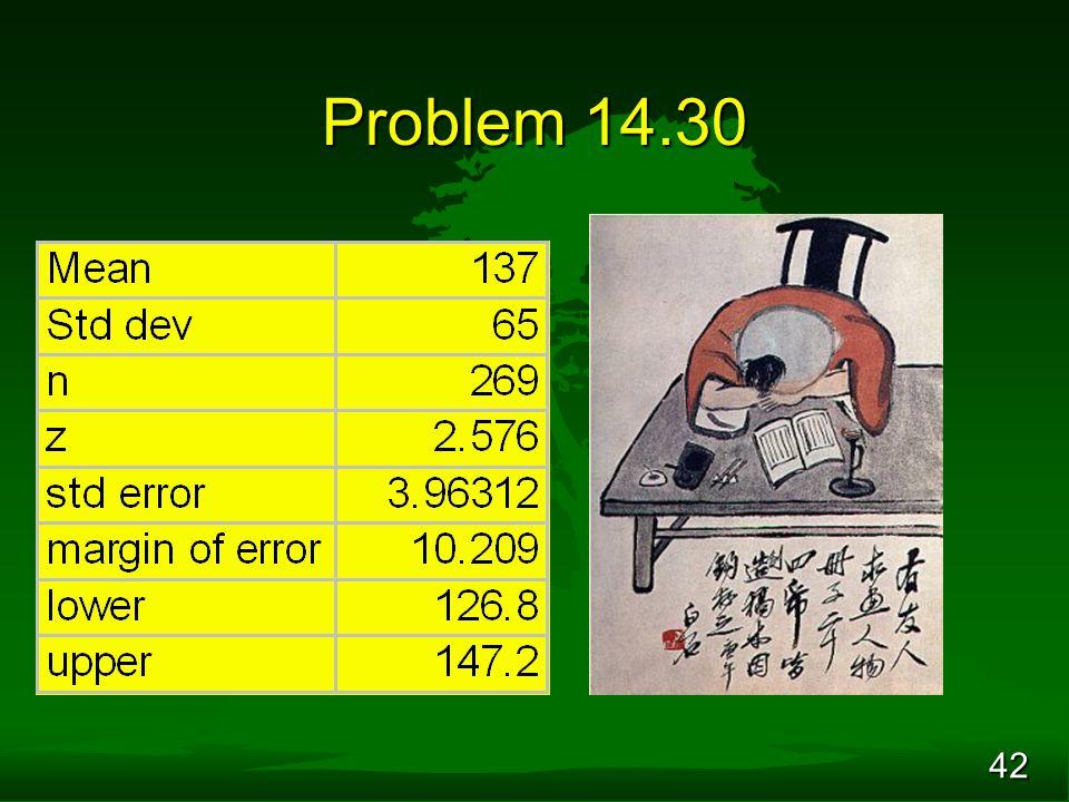 42 Problem 14.30