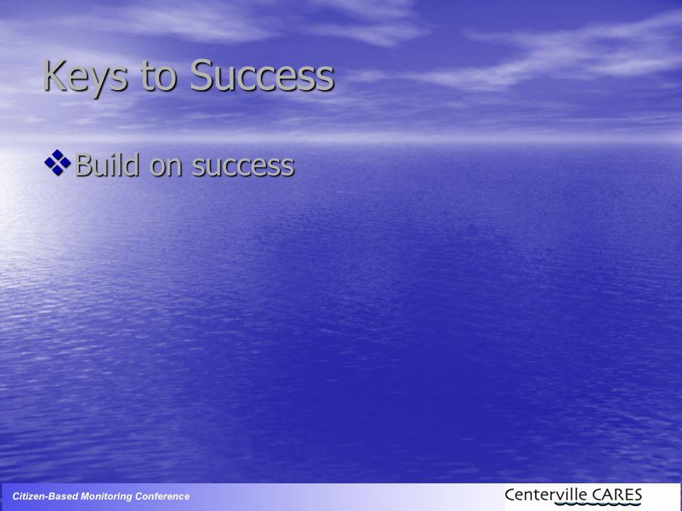 Keys to Success  Build on success