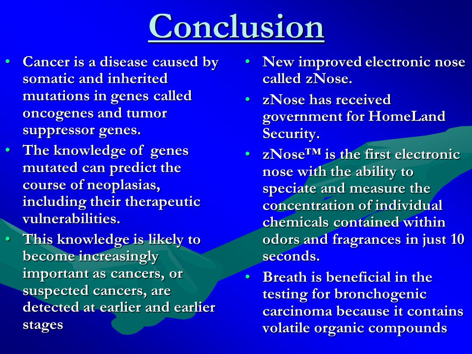 Conclusion Continued Can the electronic nose identify and distinguish lung disease.
