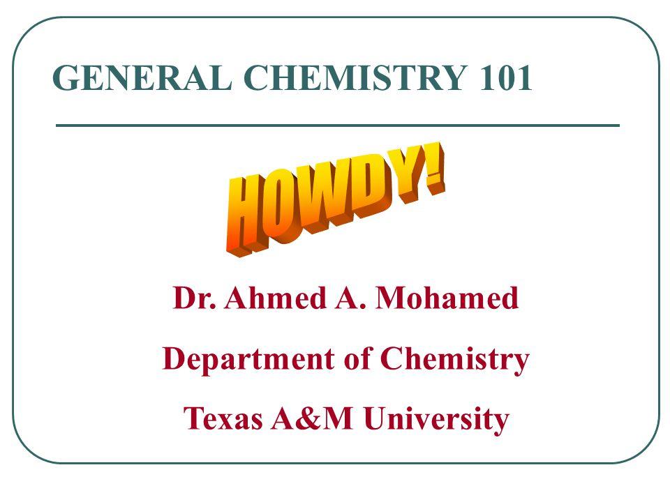Contact information amohamed@mail.chem.tamu.edu