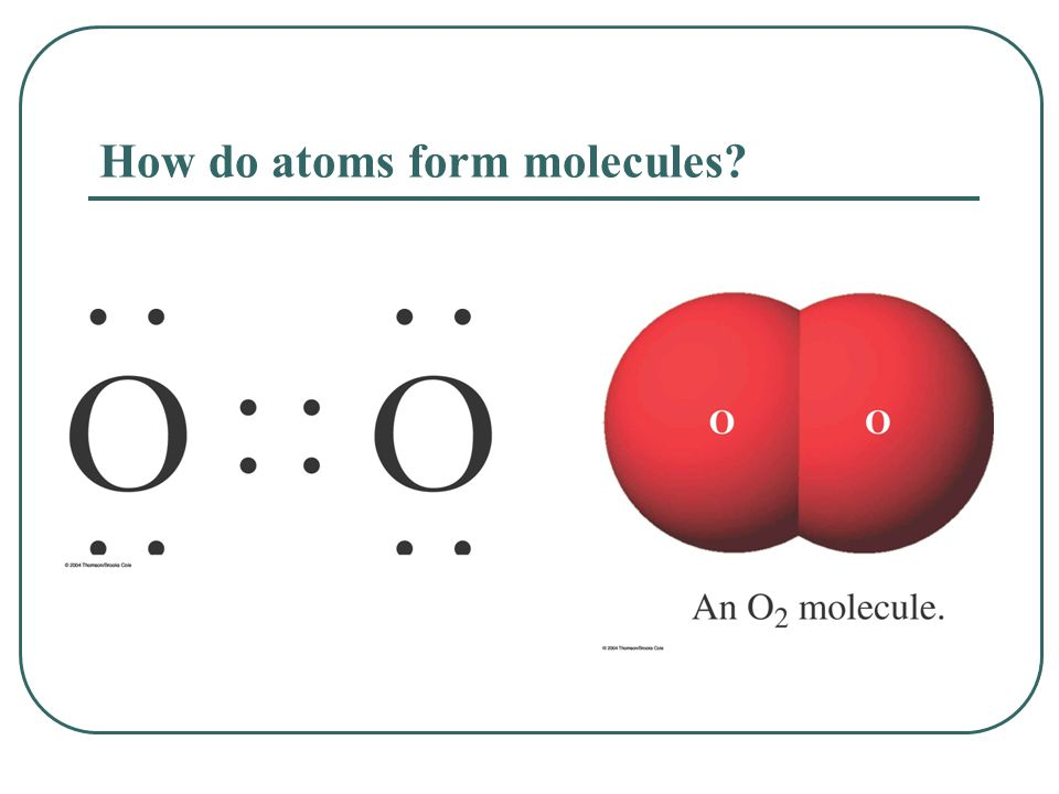 How do atoms form molecules?