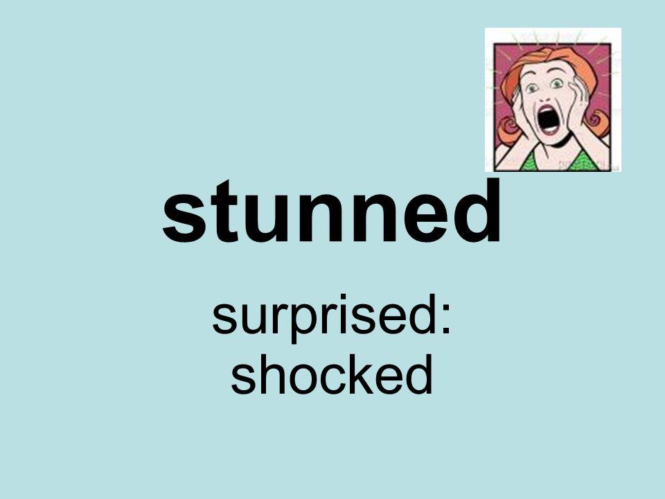 stunned surprised: shocked