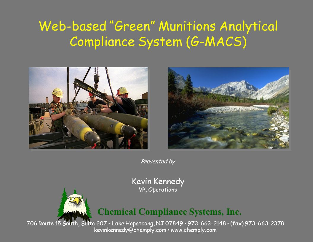 Kevin Kennedy Chemical Compliance Systems, Inc.