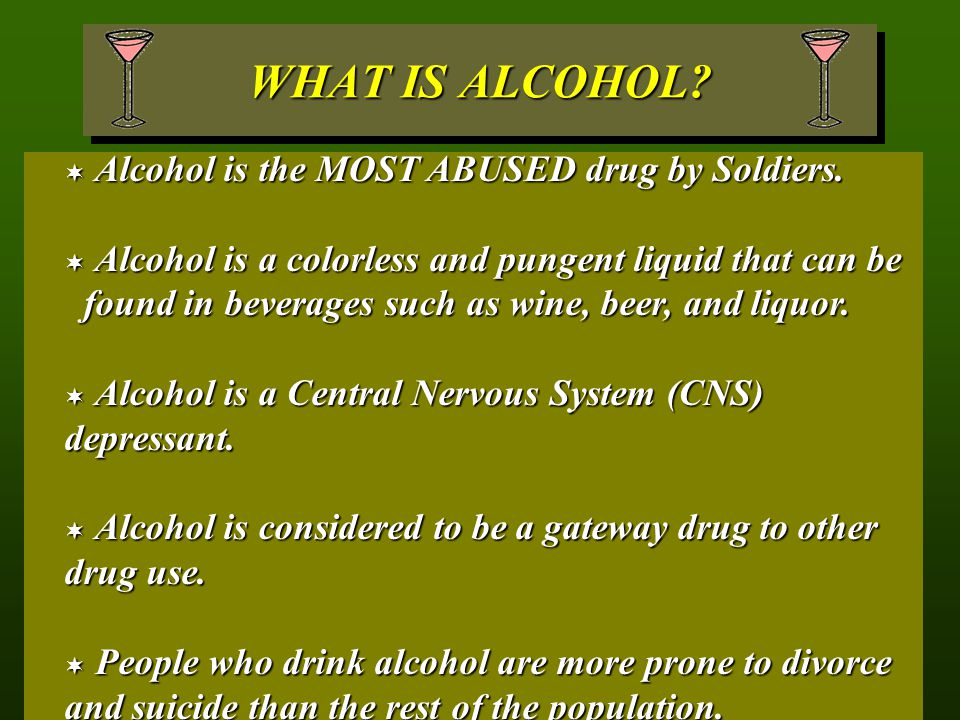 ADDITIONAL RESOURCES http://www.erowid.org/chemicals/alcohol/alcohol.shtmlhttp://www.erowid.org/chemicals/alcohol/alcohol.shtmlhttp://www.erowid.org/chemicals/alcohol/alcohol.shtml http://www.niaaa.nih.gov/http://www.niaaa.nih.gov/http://www.niaaa.nih.gov/ http://www.health.orghttp://www.health.orghttp://www.health.org http://www.sayno.com/alcohol.htmlhttp://www.sayno.com/alcohol.htmlhttp://www.sayno.com/alcohol.html http://www.alcoholics-anonymous.org/http://www.alcoholics-anonymous.org/http://www.alcoholics-anonymous.org/ http://www.al-anon.alateen.org/http://www.al-anon.alateen.org/http://www.al-anon.alateen.org/