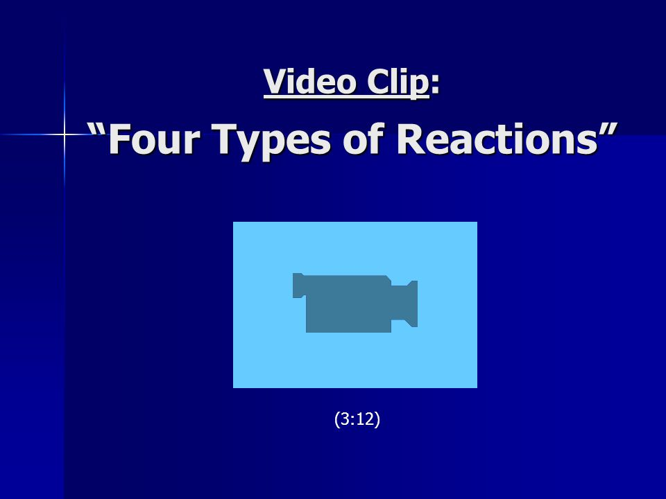 "Video Clip: ""Four Types of Reactions"" (3:12)"